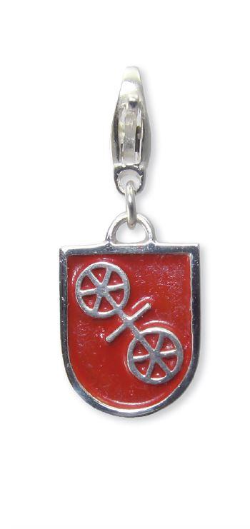 Mainzer Rad mit roter Farbe